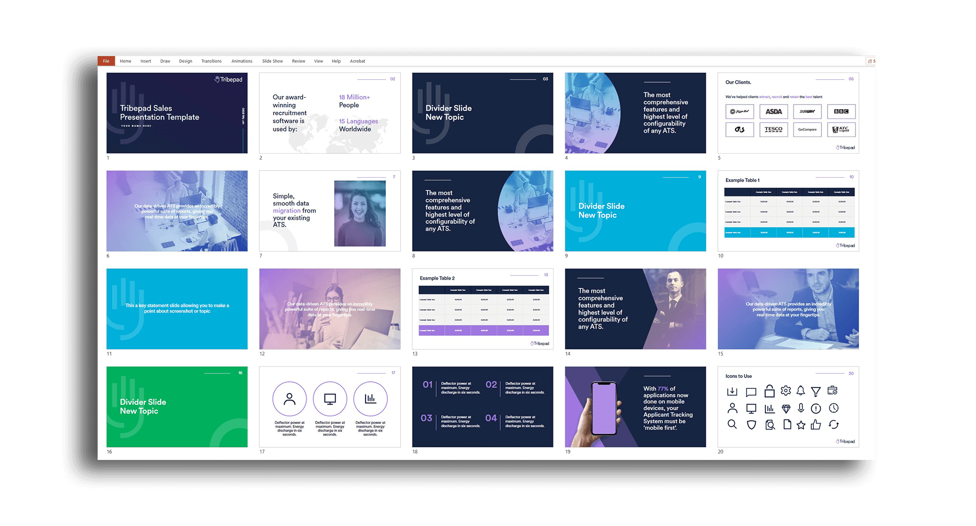 powerpoint template hero pd